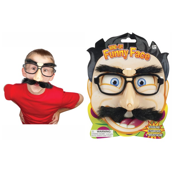 Toysmith 1982 Wind-Up Wiggling Funny Face