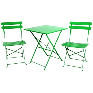 River Cottage Gardens 761207GRN Green Bistro Table Set