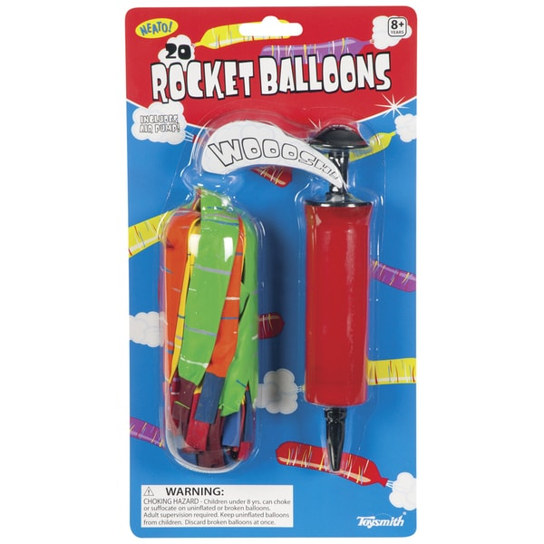 Toysmith 2533 Rocket Balloon Set Assorted Colors