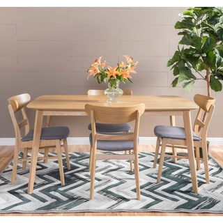 Christopher Knight Home Fauna Mid-Century 5-piece Rectangle Dining Set