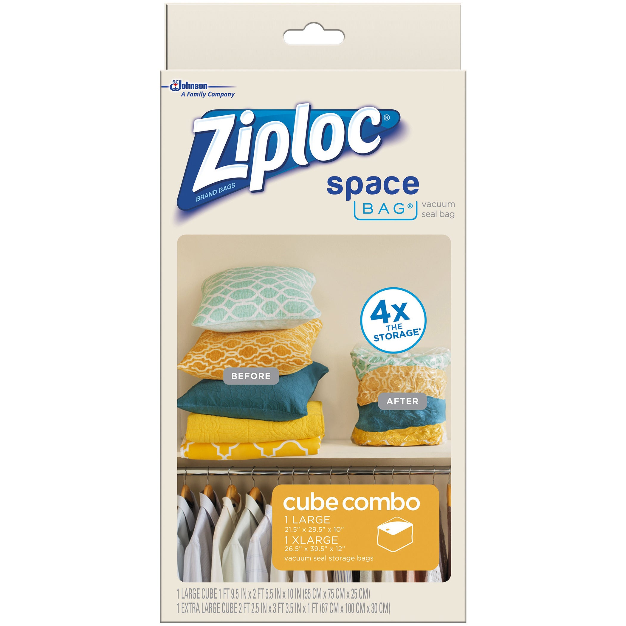 ITW Spacebag 86112 Large & X-Large Ziploc Vacuum Seal Cub...