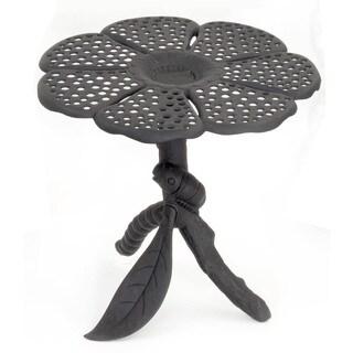 """Flowerhouse FHBFTA07 28"""" X 30"""" Black Aluminum Butterfly Table"""