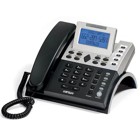 Cortelco Black/ Silver 2-Line Caller ID Business Telephone