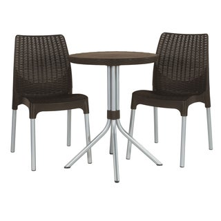 Keter North America 17199261 Whiskey Brown Chelsea Bistro 3 Piece Set