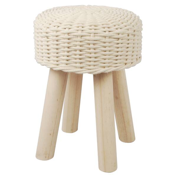 Super Woven Cotton 13 X 17 Inch Accent Stool Camellatalisay Diy Chair Ideas Camellatalisaycom
