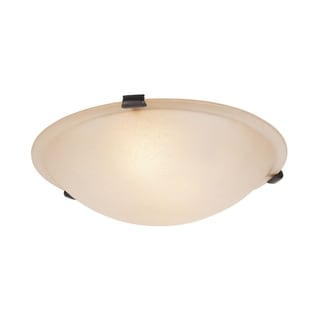 Oasis Bronze Steel/Alabaster Glass Ceiling Mount Light