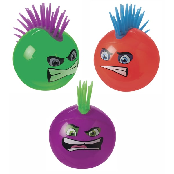 Toysmith 56436 Light-Up Mohawk Ball Assorted Colors