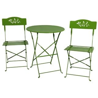 River Cottage Gardens 761206LIME Lime Green Steel Bistro Table Set