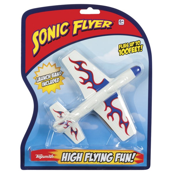 "Toysmith 74227 7"" Sonic Flyer Toy Assorted Colors"