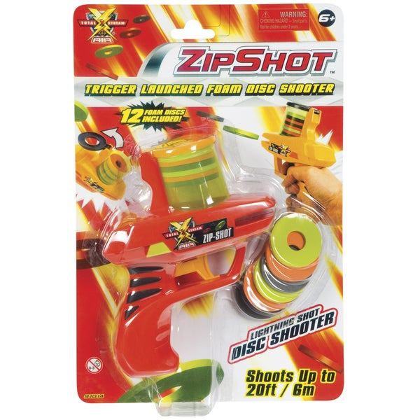 """Toysmith 7875 7"""" Zip Shot Shooter Assorted Colors"""