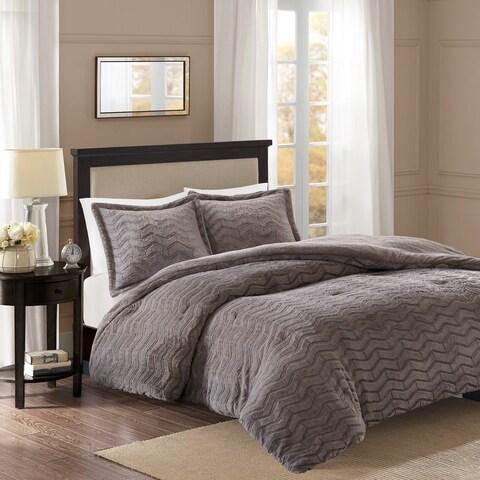 Madison Park Kaplan Plushed Long Fur Down Alternative Comforter 3-Piece Set (2-Color Option)
