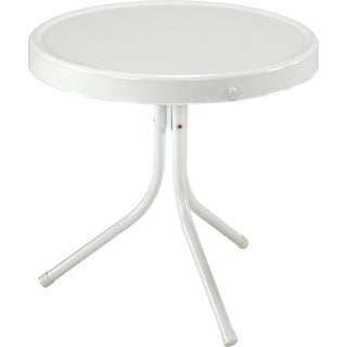 "Jack Post BH-2W 20-1/2"" X 20"" White Retro Table"
