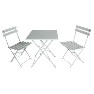 River Cottage Gardens 761207WHITE White Square Bistro Set