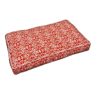 Snoozer Red/White Polyester Indoor/Outdoor Rectangle Pet Bed