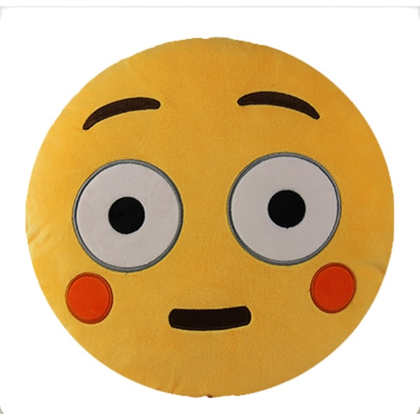 BH Toys Emoji Expression Rosy Cheeks Yellow Cotton and Polypropylene Plush Pillow