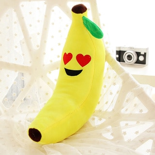 BH Toys Heart Eyes Face Emoji Plush Expression 18-inch Banana Pillow