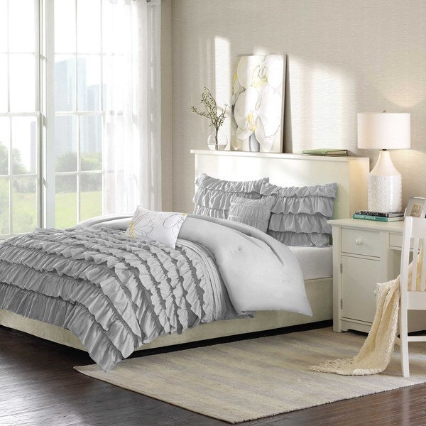 intelligent design kacie grey solid comforter set free shipping today