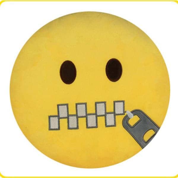 BH Toys Zippered Lips Emoji Plush Expression Pillow