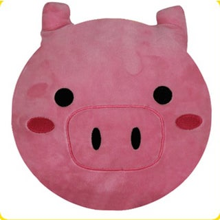 BH Toys Pig Face Emoji Plush Expression Pillow
