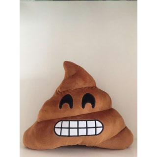BH Toys Emoji Gritted Teeth Poop Plush Expression Pillow