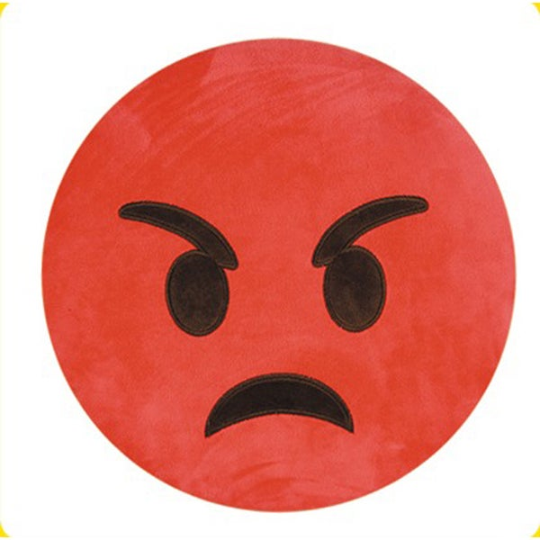 BH Toys Emoji Red Angry Face Plush Expression Pillow