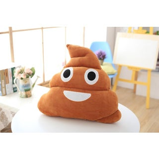 BH Toys Emoji Series Poop 19-inch Plush Expression Pillow