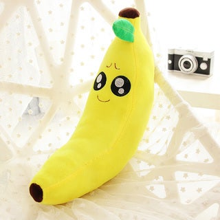 BH Toys Pity Face Yellow Cotton 18-inch Emoji Plush Expression Banana Pillow