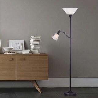 72 inch Mother/Daughter Floor Lamp in Black.