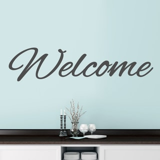 "Welcome Script Wall Decal - 60"" wide x 14"" tall"