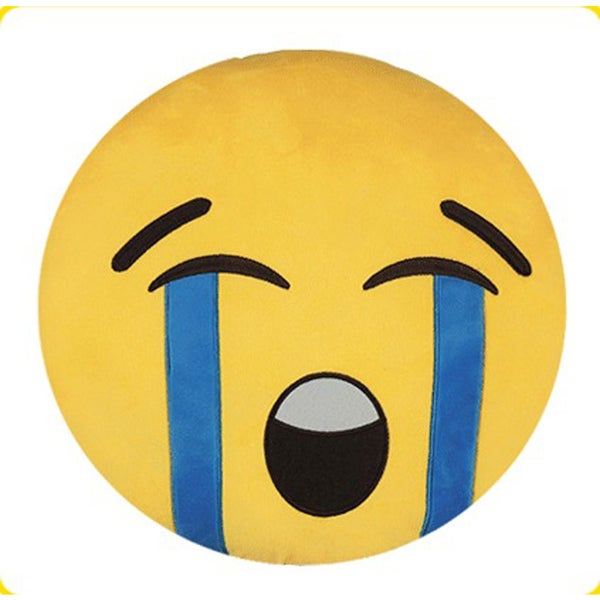 BH Toys Crying Face Yellow Cotton Emoji Plush Expression Pillow