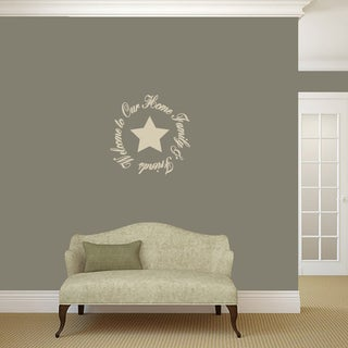 'Welcome To Our Home Friends & Family' Wall Decal