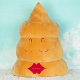 BH Toys QQ Emoji Expression Emoji Poop Grin Yellow Cotton 11-inch Plush Pillow