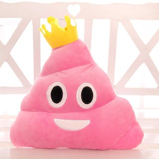 BH Toys Pink Princess Poop Emoji Plush Pillow