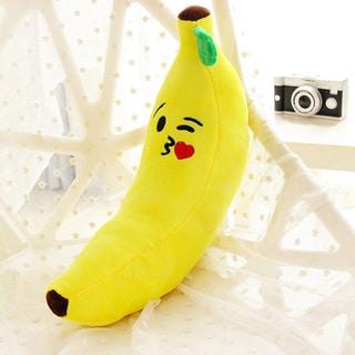 BH Toys Kiss Face Yellow Cotton 18-inch Emoji Plush Expression Banana Pillow