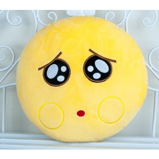 BH Toys QQ Pity Face Emoji Plush Expression 22-inch Large Pillow