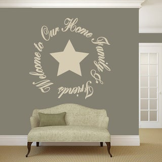 "Welcome To Our Home Friends & Family Wall Decal - 48"" wide x 48"" tall"