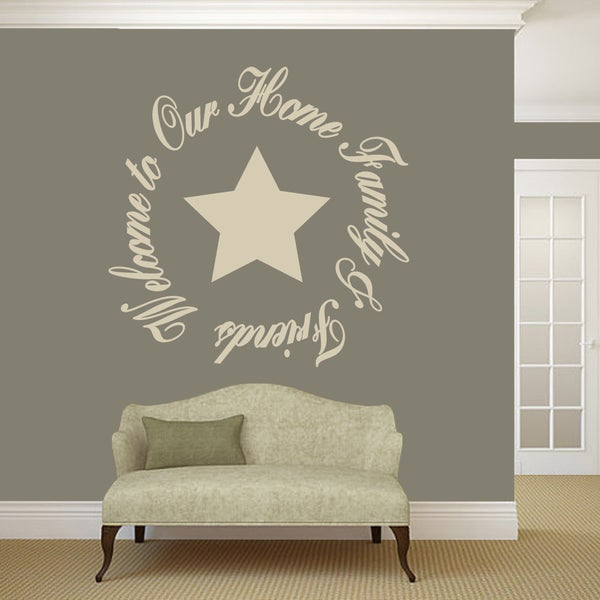 Shop Welcome To Our Home Friends Family Wall Decal 48 Wide X 48