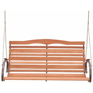 "Jack Post CG-05Z 48"" High Back Wood Swing With Chain"