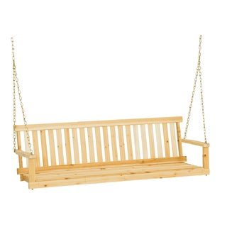 "Jack Post H-25 60""W X 22""D X 17.5""H Classic Natural Finish Porch Swing"