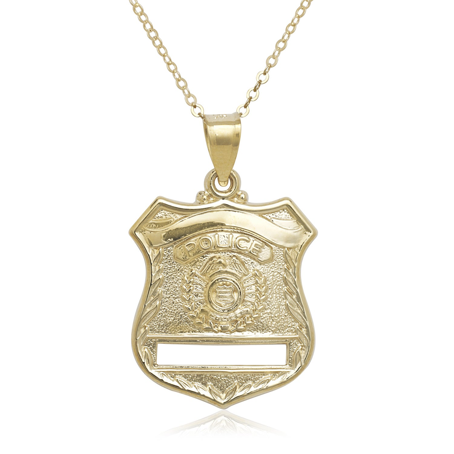 14k yellow gold 16 inch police badge pendant necklace ebay 14k yellow gold 16 inch police badge pendant necklace mozeypictures Choice Image