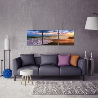 Furinno SeniA Beach Sunset 3-panel MDF Framed Photography Triptych Print