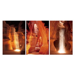 Furinno SeniA 'Antelope Canyon' 3-Panel MDF Framed Photography 42-inch x 20-inch Triptych Print