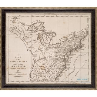 Vintage Collection 'Early United States, 1783' Framed High Quality Print on Canvas