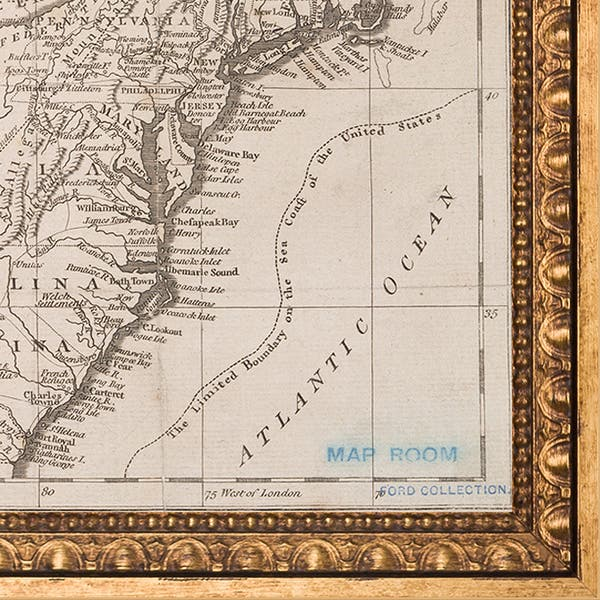 Shop Vintage Collection 'Early United States, 1783' Framed ... on united states map poster, united states map color, united states map 1860,