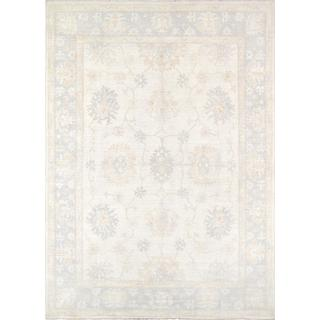 Pasargad Oushak Collection Ivory Lamb's Wool Hand-knotted Area Rug (8'4 x 11'9)