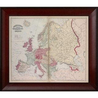 Vintage Collection 'Europe' Framed High Quality Print on Canvas