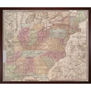 Vintage Collection 'Early United States' Framed High Quality Print on Canvas