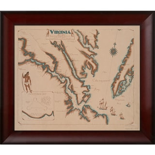 Vintage Collection 'Virginia, 1602' Framed High Quality Print on Canvas