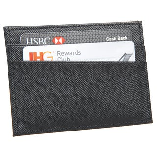 AfterGen Carnegie Black Leather Cardholder Wallet