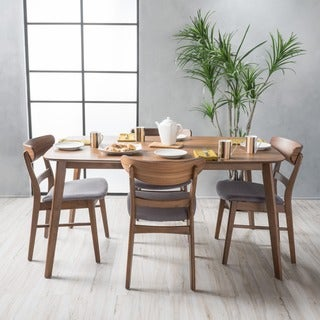 Idalia Mid-Century 5-piece Rectangle Dining Set by Christopher Knight Home